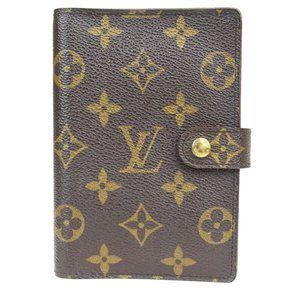 Louis Vuitton Monogram Planner Cover Brown Agenda